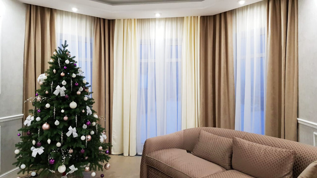 Авторские шторы в гостиную