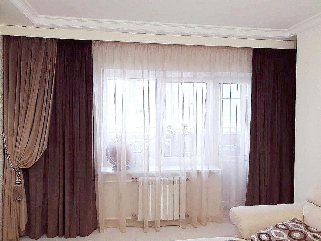 Шторы в гостиную из современных тканей