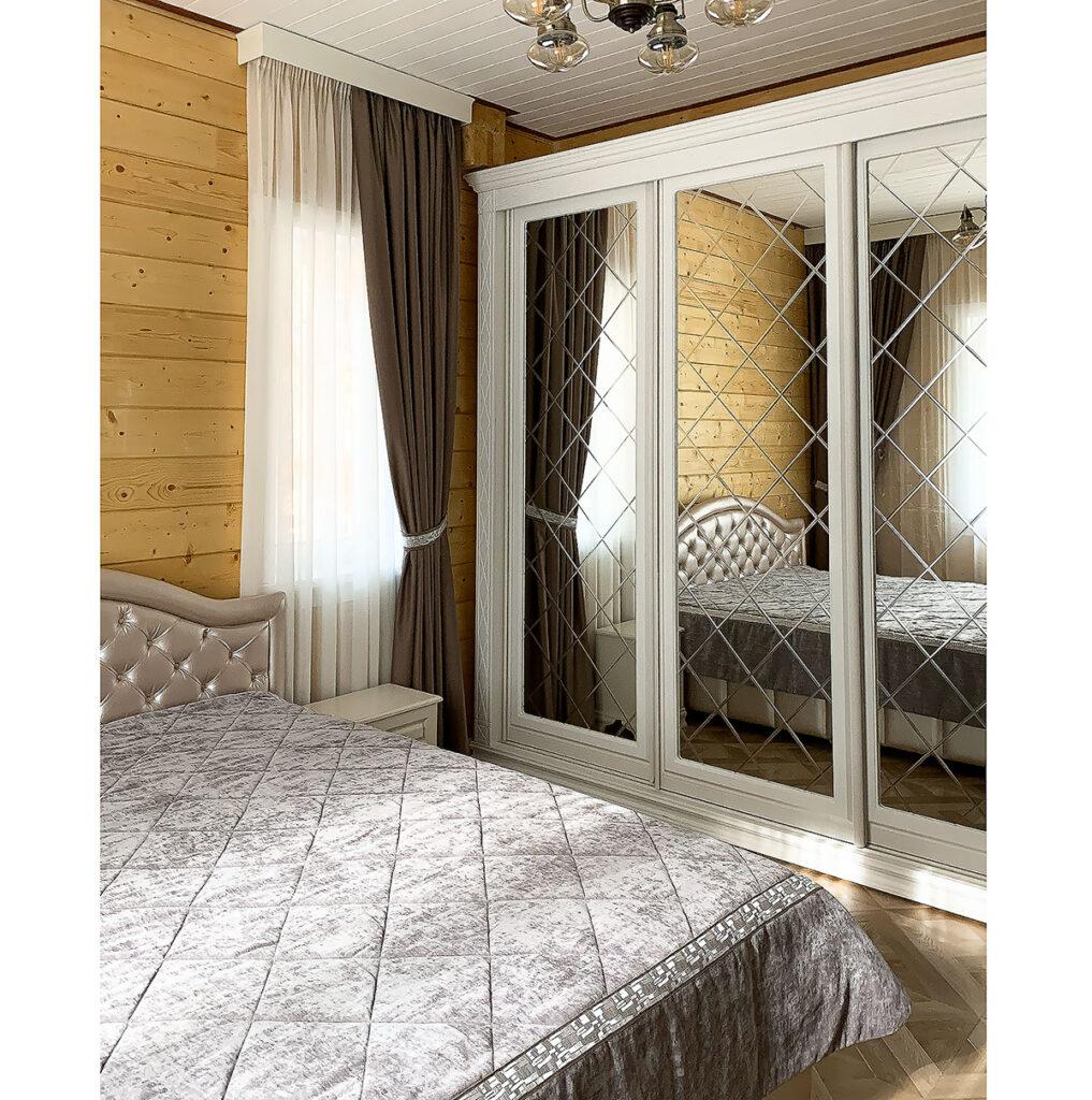 Заказать шторы в спальню блэкаут1