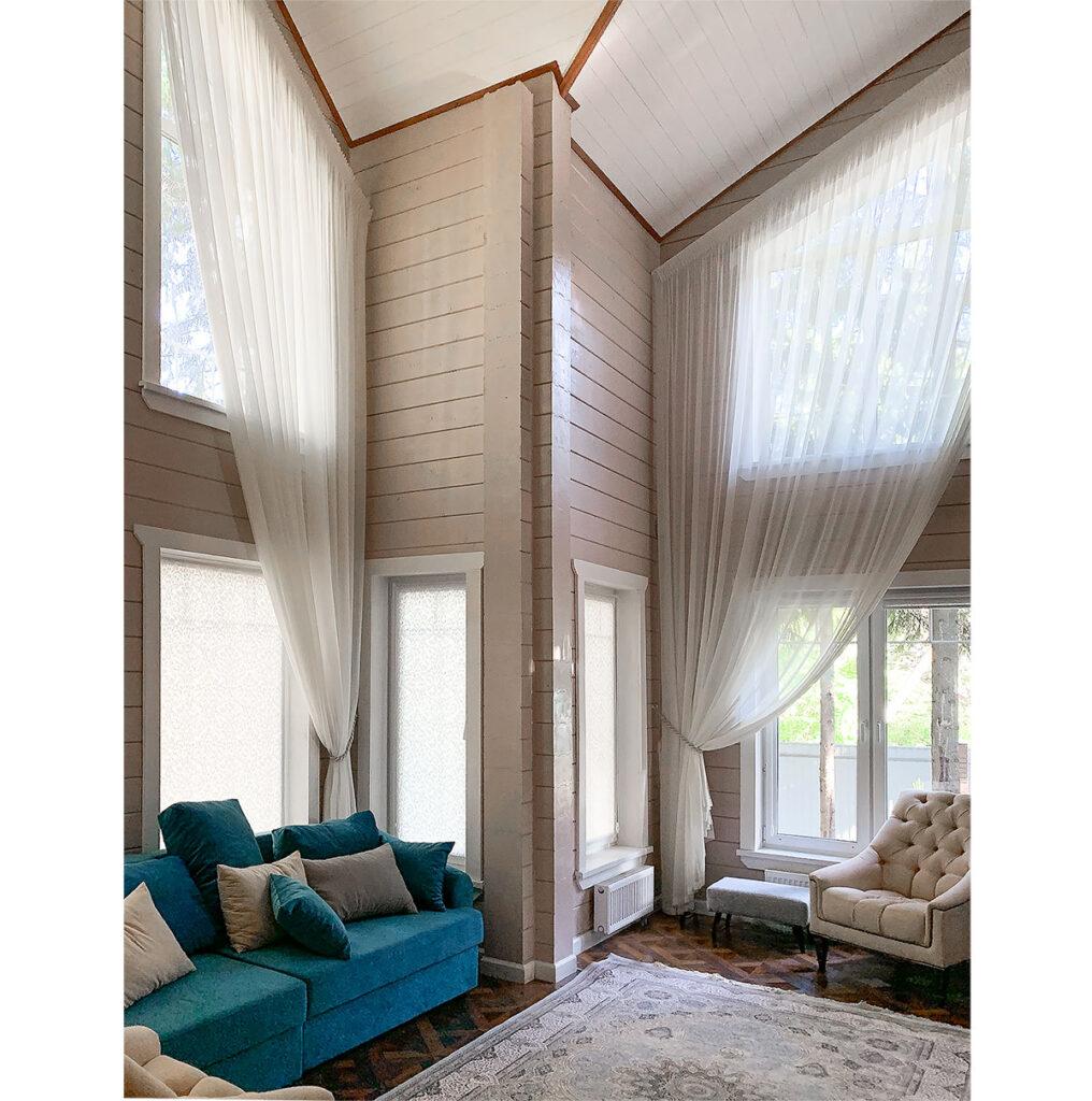 шторы в загородный дом